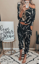 Load image into Gallery viewer, Black Tie Dye Lounge Set