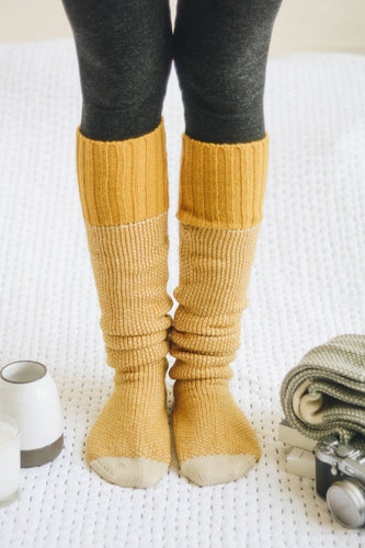 Chunky Lounge Socks in Mustard