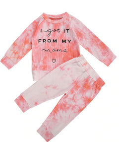 I Got It From My Mama Tie Dye Set - Kids