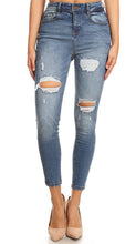 Load image into Gallery viewer, Midrise Distressed Skinnies