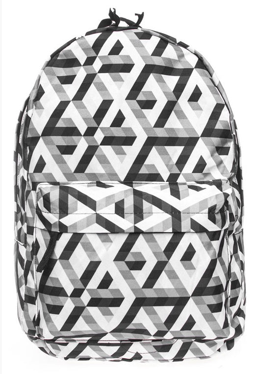 Black & White Geometric Backpack