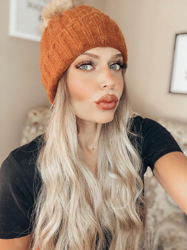 Ribbed Furry Beanie (more color options)