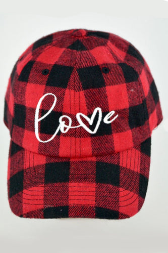 Buffalo Plaid LOVE Hat