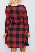Load image into Gallery viewer, Buffalo Plaid Pocket Dress