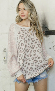 Beige Cheetah Bubble Top