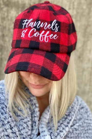 Flannels & Coffee Buffalo Plaid Hat