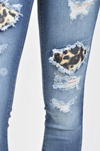 Load image into Gallery viewer, Kan Can Leopard Patch Skinnies