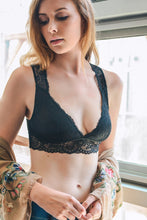 Load image into Gallery viewer, Lace Keyhole Back Bralette in Black