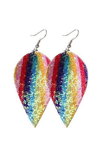 Rainbow Glitter Earrings