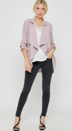 Spring Blazer In Blush