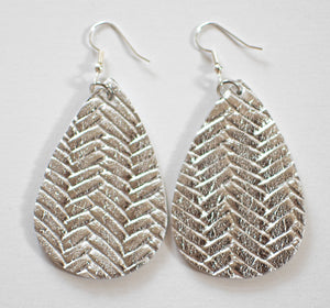 Teardrop Earrings - Chevron (more color options)