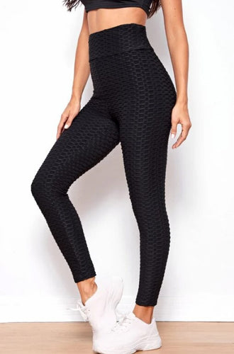 Textured Leggings in Black