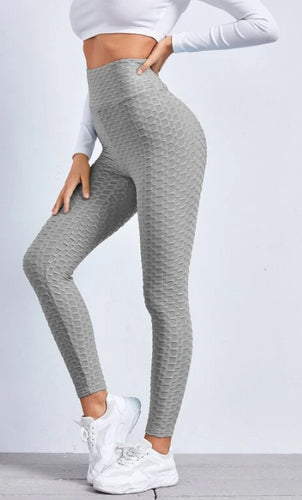 Textured Leggings in Grey