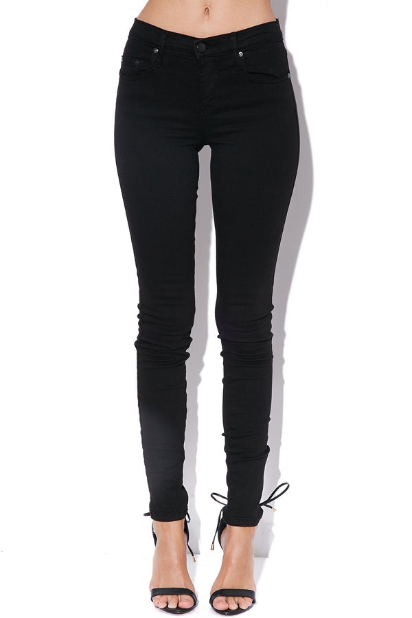 Geo Skinny Jean-Power Black