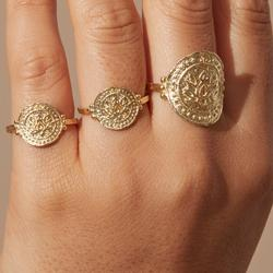 Gold Large Lotus Rising Ring