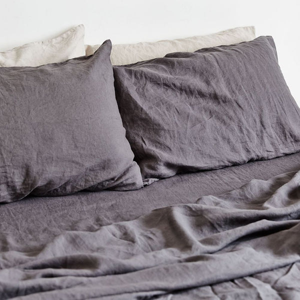 King Fitted Sheet-Charcoal