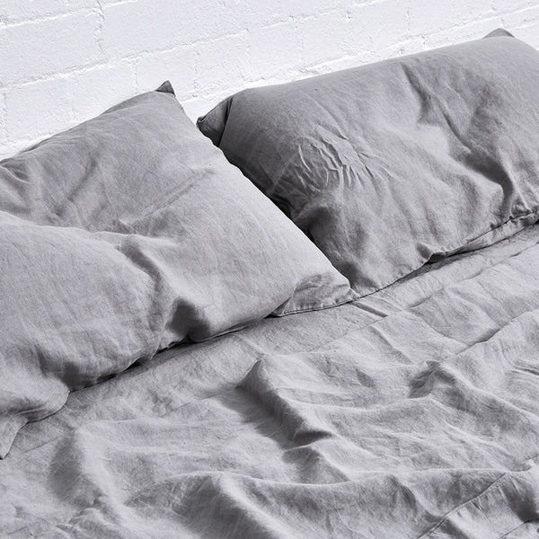 Double Fitted Sheet-Cool Grey