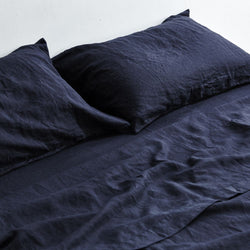 Queen Fitted Sheet-Navy