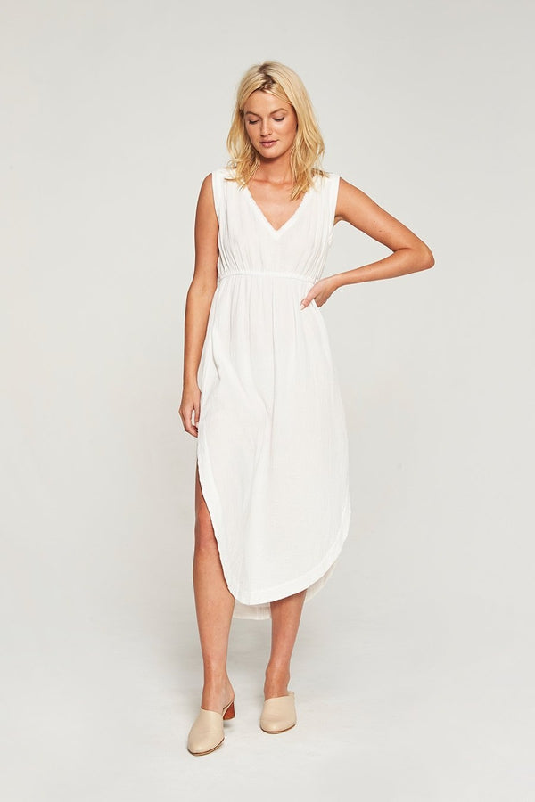 Deah Midi Dress - Natural