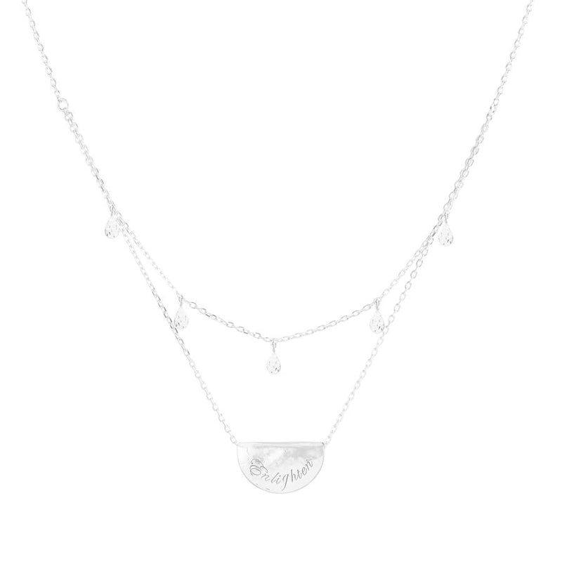 Silver Blessed Lotus Necklace