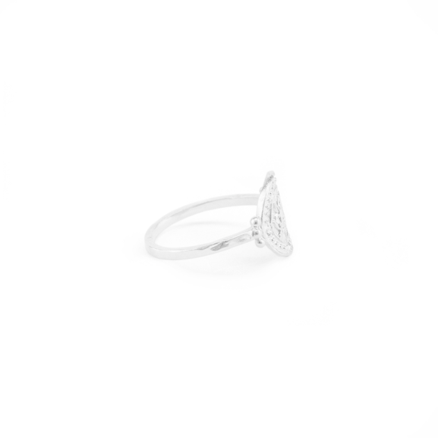 Silver Small Lotus Rising Ring