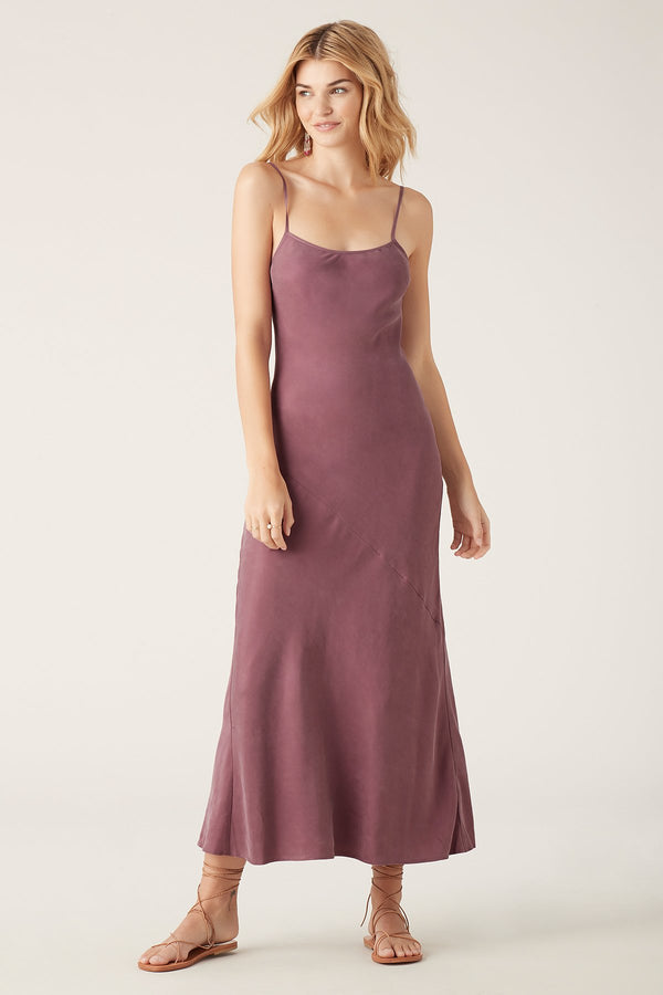 Amer Slip Dress - Mauve