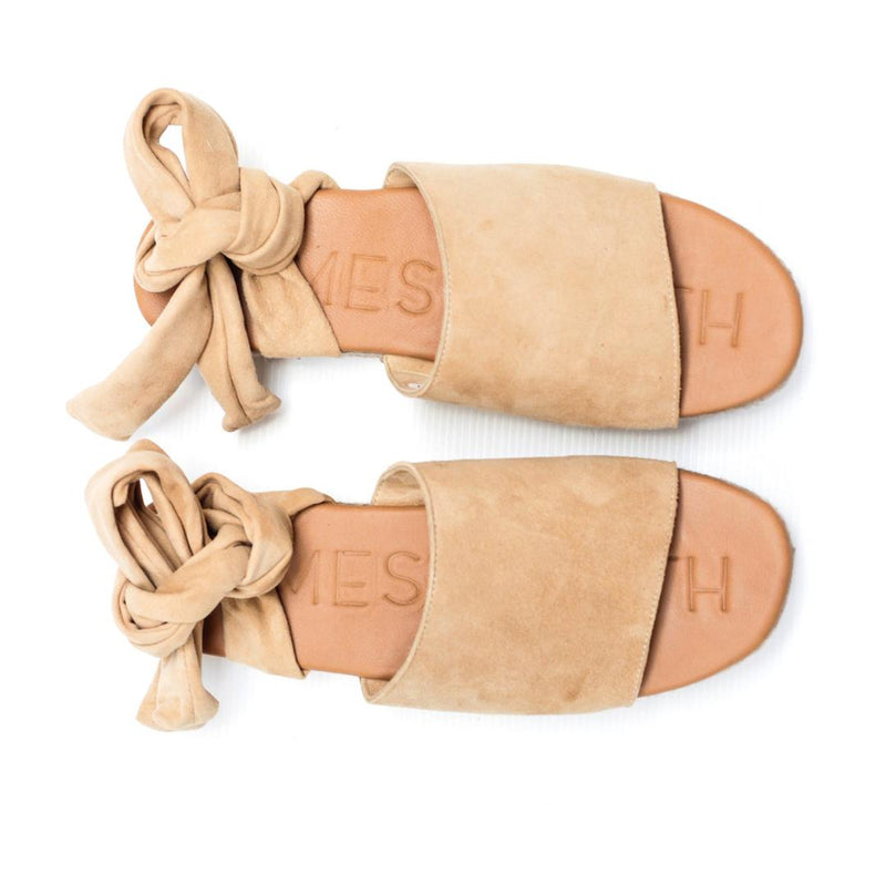 The Wrap Espadrille-Sand Suede