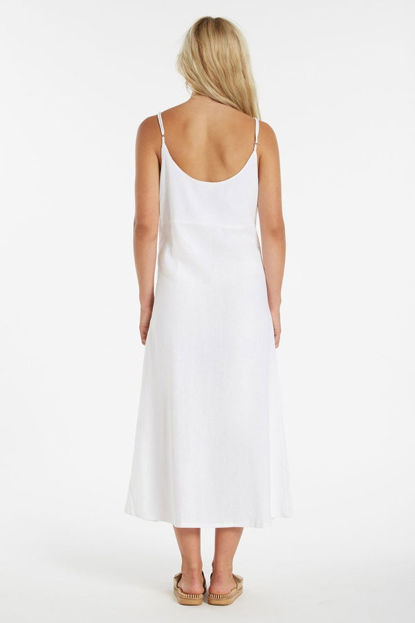 Aloe Slip Dress - White