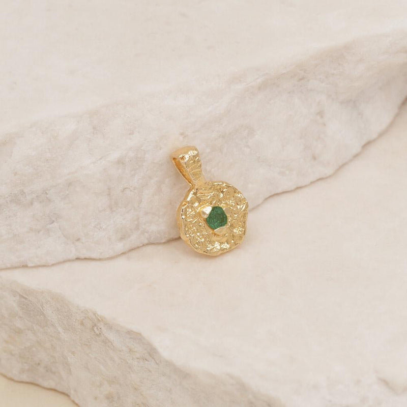May Birthstone Pendant - Gold