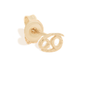 Gold Cancer Stud Earrings