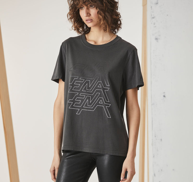 Ride The Lightning Graphic Tee - Faded Black