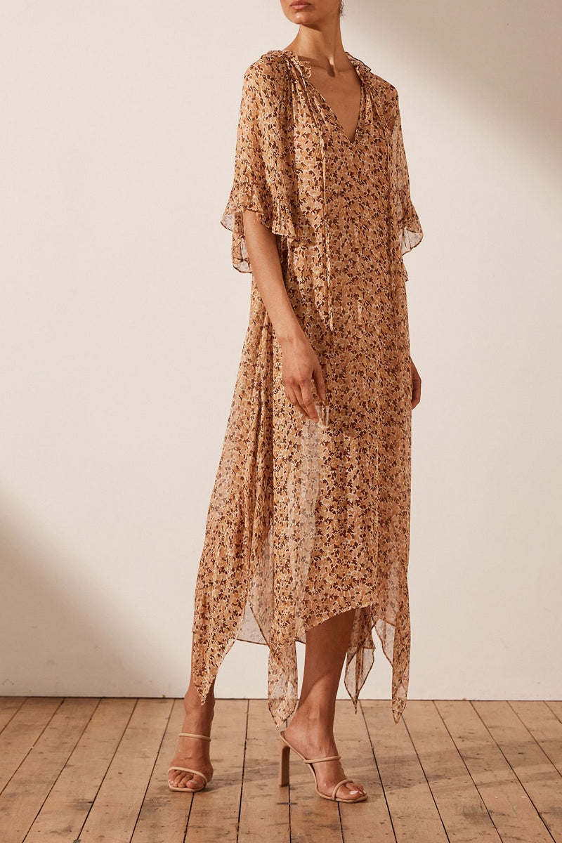 Colette Sheer Kaftan Dress w. Mini Slip