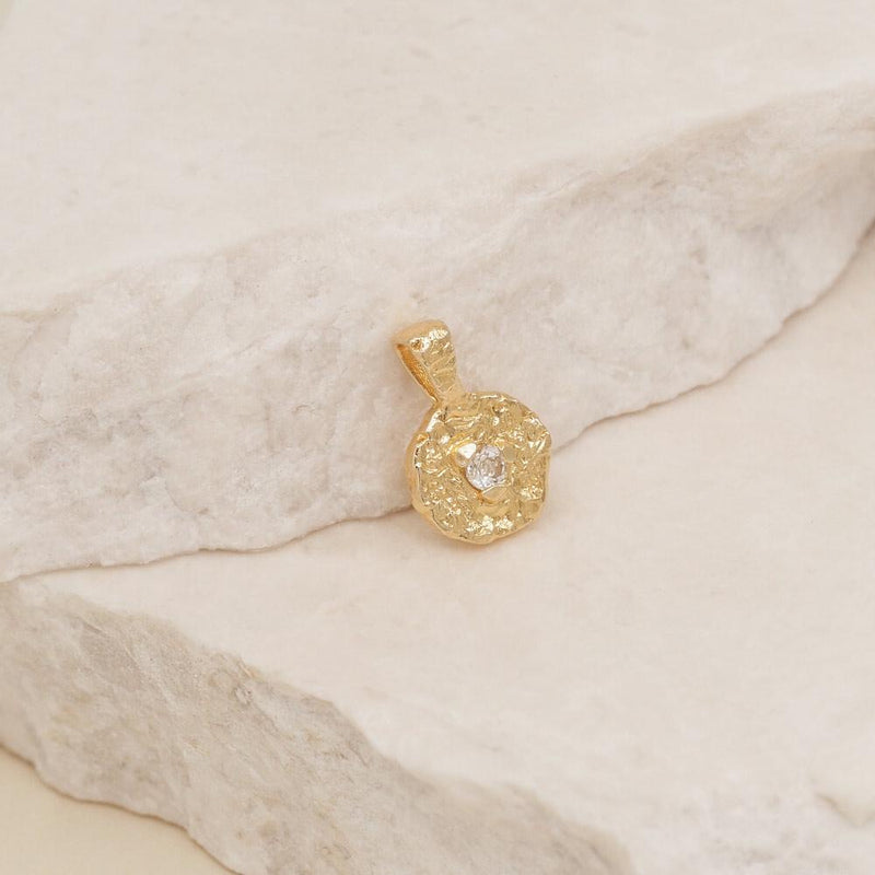 April Birthstone Pendant - Gold