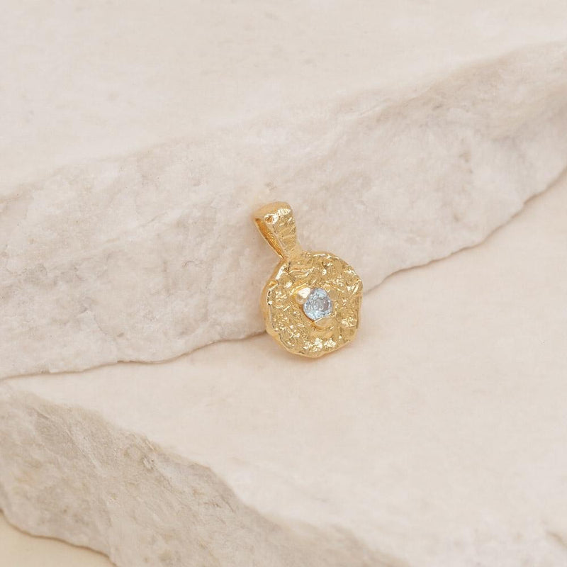 March Birthstone Pendant - Gold
