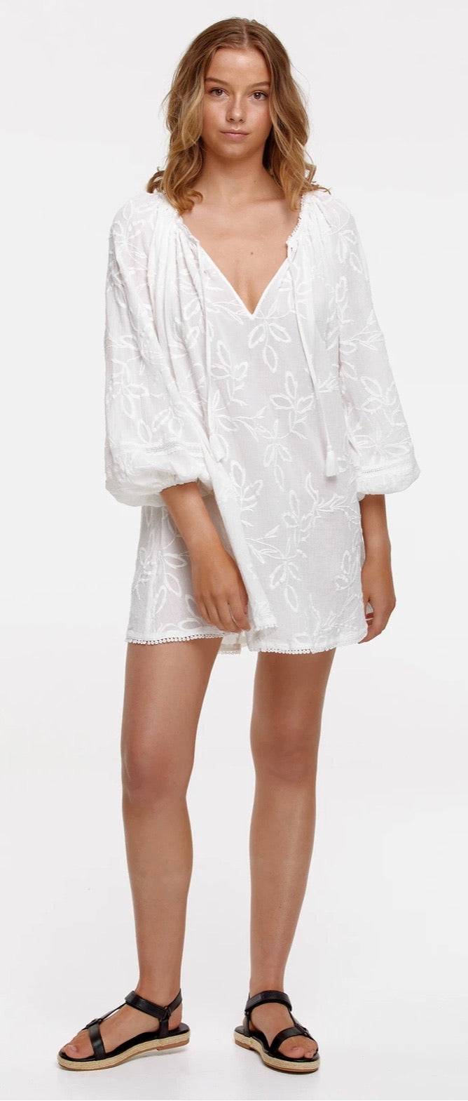 Isla Arlo Tunic - Antique White