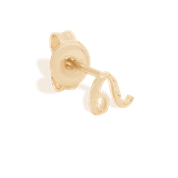 Gold Leo Stud Earrings