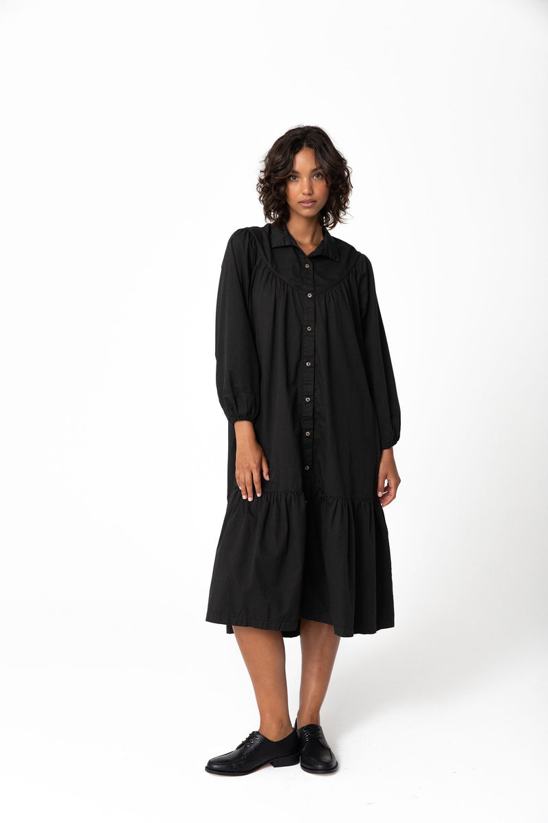Andy Organic Midi Dress - Vintage Black