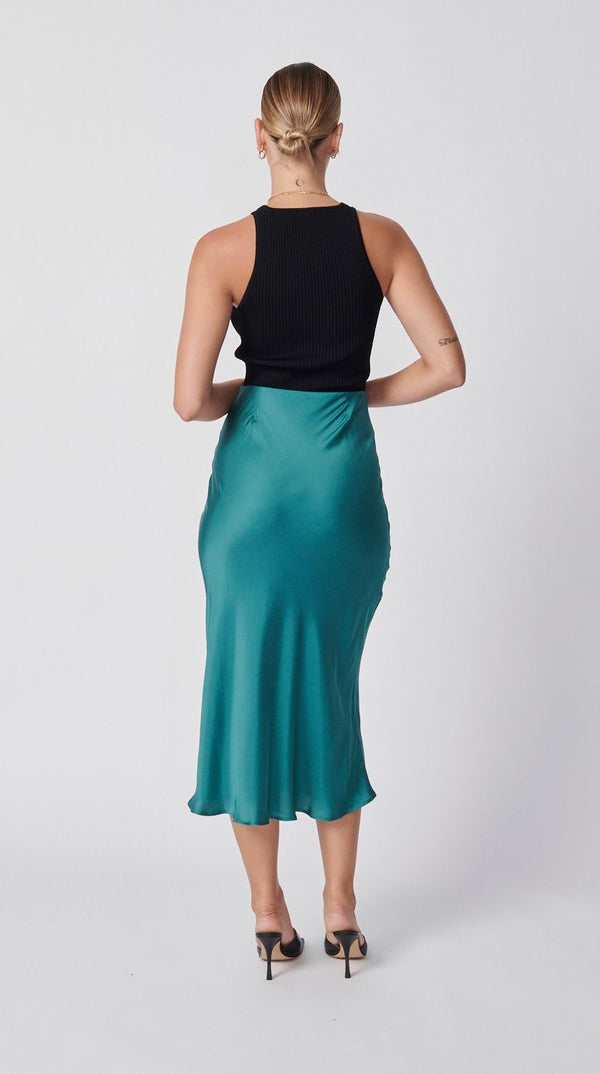 Slip Skirt - Antique Green