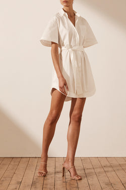 Amaia Shirt Dress - White