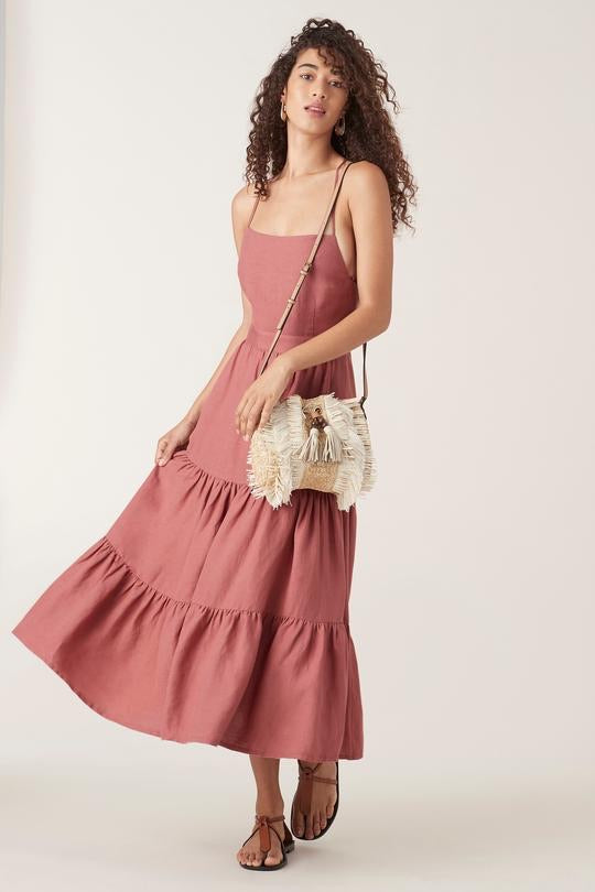 Kara Midi Dress - Rose