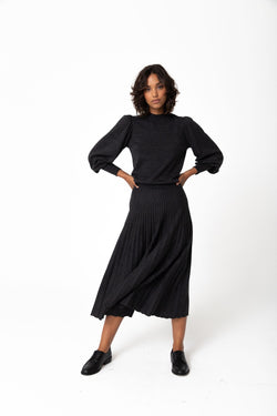 Marlie Knit Skirt - Charcoal