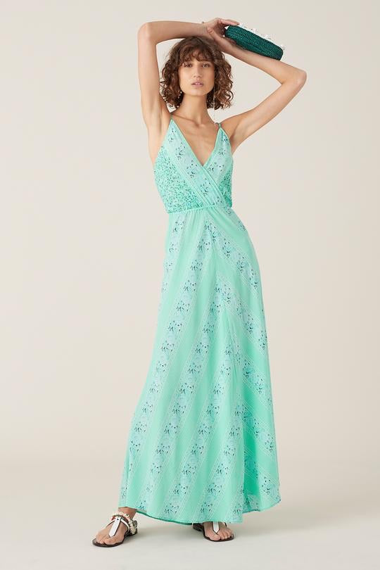 Nilla Sleeveless Maxi Dress - Turquoise