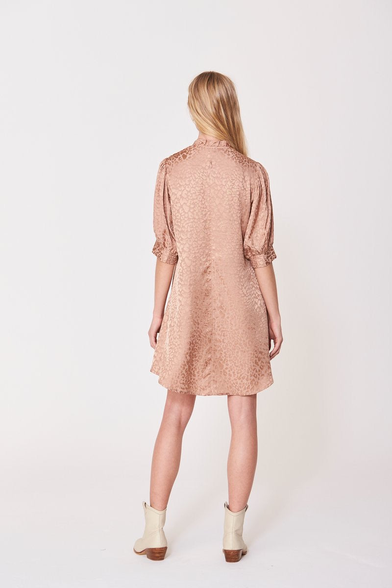 Harriet Mini Dress - Honey Leopard