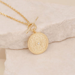 A Thousand Petals Fob Necklace-Gold