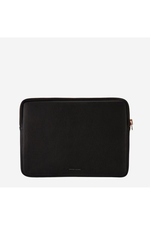 Before I Leave Laptop Case-Black/Rose Gold