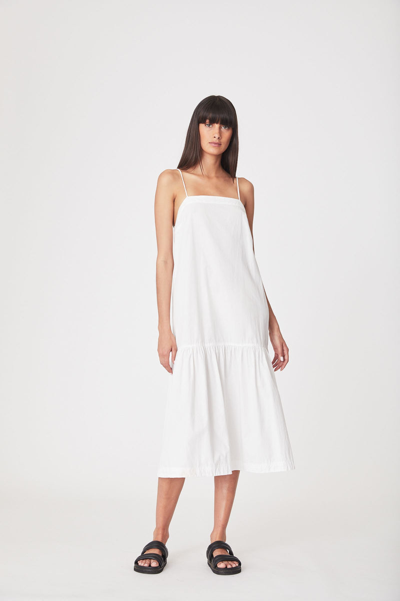 Sunny Organic Midi Dress - Bone