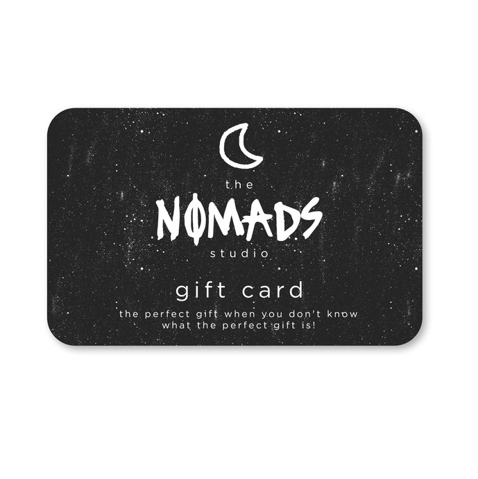 the NOMADS studio digital gift card