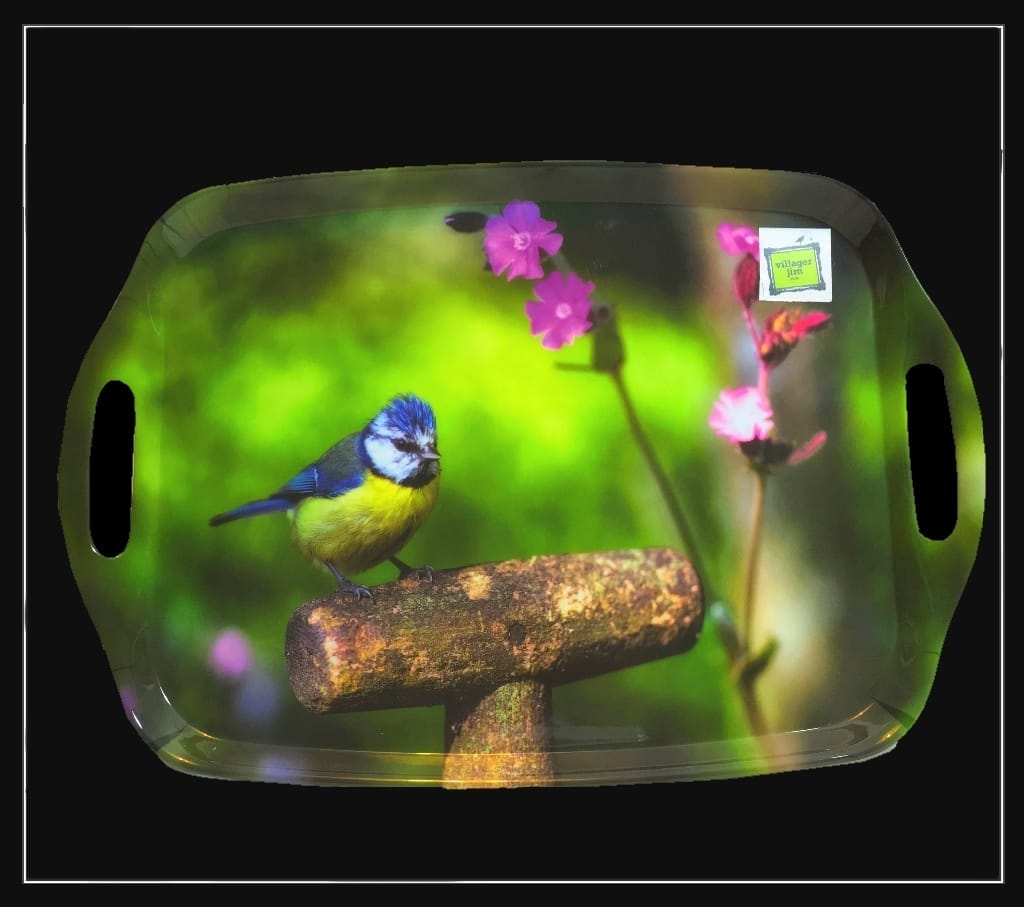 Blue Tit on Spade Tray - Country Matters