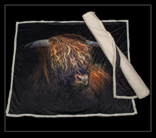 Highland Bull Throw - Country Matters