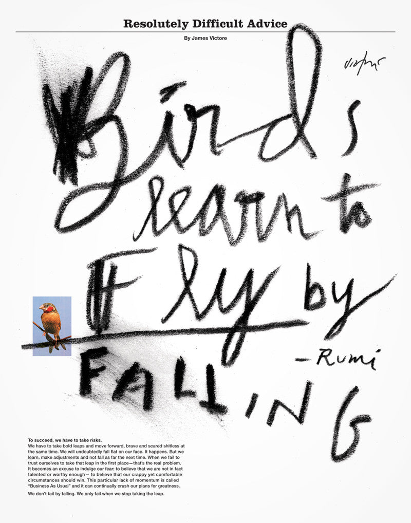 Birds Learn to Fly by Falling